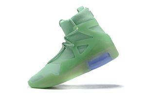 Горячая Продажа-2019 Дизайнерская обувь Fear Of God Light Bone oranage Черной Мужчины Женщина Мода Fog Boots Real Leather Продажа Размер 7.12