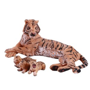 Simulation Wild Forest Animal Tiger Model Solid Plastic Action Figures Animal Educational Figurine Kids Cognitive Toy Gifts