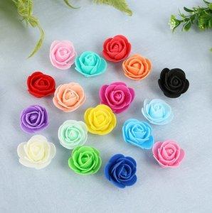 500pieces / lot Bunlar Çiçekler Kullanılan için Süsleme Flores İnsan yapımı Dekoratif Güller Başkanı Gül Ayı Düğün Evi Yapay Çiçek Y19061103
