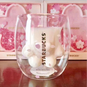 Starbucks Sakura Cat Paw Кружки Cat коготь Чашку 2019spring Starbucks Limited Eeition Cat Foot Coffee Cup Sakura 6oz