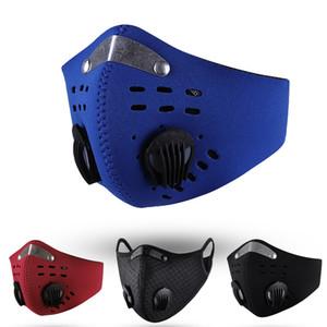 US Stock Cycling Face Mask активированный уголь с фильтром PM2. 5 Anti-Pollution Sport Running Training MTB Road Bike Protection пылезащитная маска