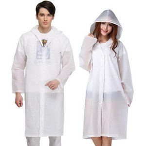 8 Color raincoat Adult Portable Non-disposable Raincoat Long Sleeve Button Cycling, Camping, Hiking, Tourism Hooded Waterproof