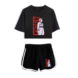Sexy Two Piece Outfits for Women Anime Hunter X Hunter HIsoka 2 Piece Set Crop Top and Shorts Tracksuit for Women Sets Cosplay