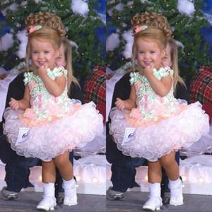 Pageant платья партии Прекрасные малышей Дети Детские платья девушки цветка Мисс Америка выполненное на заказ Organza кекс Туту девушки Wears Для Младенца