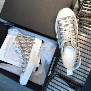 """Os mais recentes Flores Técnico Canvas """"B23"""" High-top Oblique Casual Mens alta qualidade Formadores Womens Shoes Luxury Designer Shoes LL45"""
