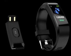 ID 115 PLUS ساعة ذكية يمكن ارتداؤها IOS Android ذكي ساعة ذكية رصد معدل ضربات القلب ضغط الدم اللياقة البدنية تعقب الأساور الذكية