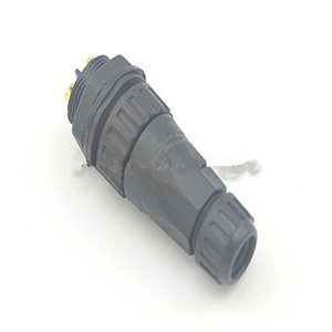 Freeshipping 10 jogos / lote 2 Pin Screw Cable Lock impermeável conector do adaptador macho para a fêmea montagem de painel levou luz da lâmpada Contactos Adaptador M22