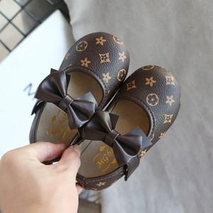 Детский конструктор Плоской обувь 2020 мода весны луки Одиночных ботинки младенец малыши первого Уолкер Дети Марка Письмо печатная обувь высокий доставленная