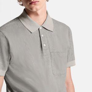 Tasto Solid maniche corte 20FW classica completa Polo Business casual semplice Tooling maglietta traspirante Summer Street Tee Grey HFHLTX141