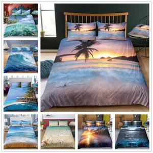 Beautiful Sea Scenery Bedding Set Single Doble King Size Juego de sábanas para el hogar Textiles Tela de microfibra Colchas