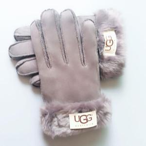 Luvas de Inverno de malha cor sólida Unisex luvas do toque de tela Inverno tela tricô Smart Touch Celular Cinco Dedos Luvas