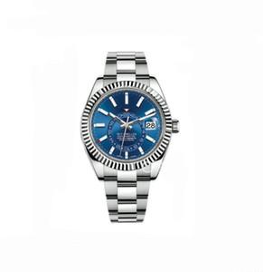 Hohe Quailty 42mm m326934 Blau Farbe Gmt Dial Arbeit Datum Sapphire Edelstahl Automatik movment Mehr Farbe Herrenuhr wristwatche