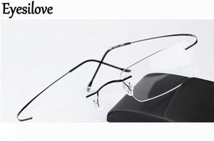 Silhouette senza montatura ultra-light occhiali della struttura del telaio dell'ottica delle donne degli uomini di titanio occhiali nero argento go oro grigio con custodia originale