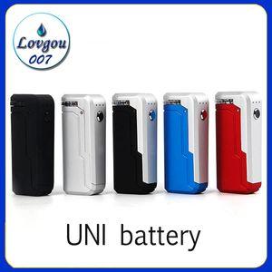 Yocan UNI Box Mod 650mAh Разогреть В.В. Батарея переменного напряжения с магнитным 510 Адаптер для густого масла картриджа