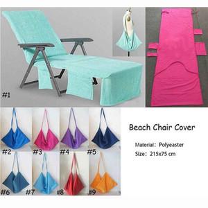 Coperte della sedia di stagno della piscina dell'asciugamano della sedia della spiaggia della copertura della sedia della spiaggia di Microfiber Coperta portatile con gli asciugamani di spiaggia della cinghia Coperta a doppio strato