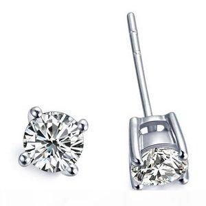 2 Carat pair commercio all'ingrosso orecchini per le donne 4 Prong placcato platino fidanzamento anniversario SONA sintetico orecchini Diamond Stud