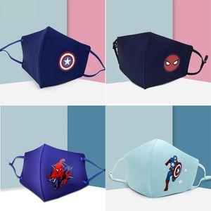 Erkek kız karikatür Maske Çocuklar Eğlence Fantezi kahraman Yarım Yüz Ağız Kül Yeniden kullanılabilir Toz Windproof Pamuk Ücretsiz Kargo Maske Isınma Maske