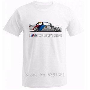 2020 Nueva camiseta de los hombres de verano 100% algodón Tops E30 Yo soy el Rey del Drift Car Drift ventilador camiseta de sintonización de la venta caliente del cuello de O Tee Shirts