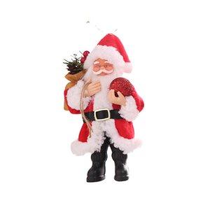 Resina de Santa Claus postura de pie Adornos muñeca colgante de la Navidad Decoraciones colgantes
