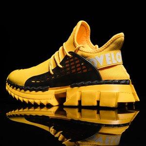 Times New Roman Spesso Esecuzione di fondo delle scarpe da tennis di modo degli uomini di sport dell'uomo preparazione atletica da jogging Scarpe Zapatillas Pluse Size
