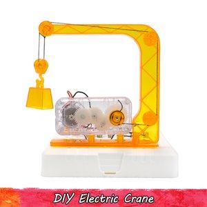 Juguetes de plástico Experimento eléctrico de la grúa de la ciencia para los regalos de los niños adolescentes Física invención hecha a mano Montaje kits modelo educativo creativo