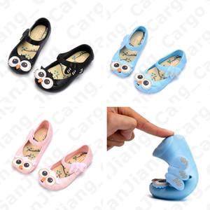 Enfants Sandales Mignon Hibou de Bande Dessinée De Gelée Princesse Chaussures 2020 D'été PVC Fond Mou Slip Non Sandel Bébé Filles Étanche Plage Chaussures E31002