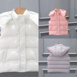 Children's down jacket coat children thick hooded vest girls down jacket cotton-padded clothes boy's vest fashionable