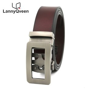 wholesale 100%Genuine Leather High quality Pure Cowskin Men's Automatic buckle belts cowhide Belt for men free shipping