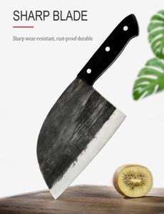 XYj Handmade Forged chinês Butcher Faca de Cozinha alta de aço carbono Facas Chef óssea Chopper completa Tang cabo da faca presente Bainha