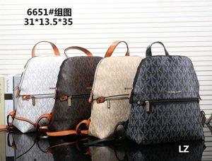 6651 Diseñador Mochila Mujeres de lujo diseñador bolsos monederos de cuero del bolso del hombro del bolso mochila grande