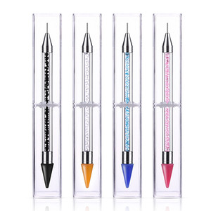 Amphidrome Picker strass cire Pen manucure Gel ongles outil strass Dotting Crayon outils Nail Art