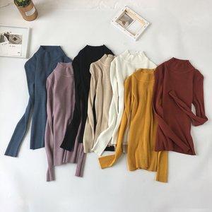 WWENN suéter de manga larga 2019 otoño caliente de las mujeres suéter de los suéteres de invierno jerséis de cuello alto Mujer Tops Jumpers Jaqueta Femenina Y200116