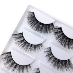 Hot Mix 6 style Multipack Faux Cils 3D doux Vison Cils Wispy longs cils Faux Maquillage des yeux naturels Faux cils DHL Mix B