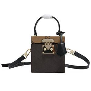 Klassische Koffer Box-Design Handtaschen Schulter-M52466 fahsion Frauen Leder Umhängetasche Handtasche mit S-förmigen Schloss besten Geschenke