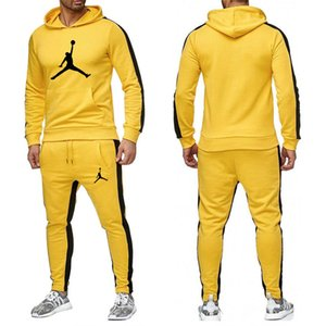 la vendita Set calda tuta con cappuccio della tuta pantaloni da uomo Uomo Abbigliamento Felpa Pullover donne casual Tennis Sport Tuta vestito di sudore NO.6D