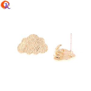 venta al por mayor 50Pcs 12 * 17MM Accesorios de joyería / Pendientes Stud Parts / Hand Made / Cloud Shape / DIY Jewelry Making / Pendientes de aretes