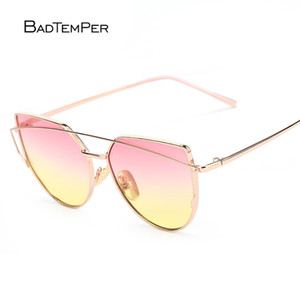 badtemper Cat Eye Sunglasses for Women 9 colors Twin Beam Sun Glasses Double-Deck Alloy Frame eye Protection cool Luxury Gifts C18122501
