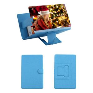 8 pouces 3D Téléphone écran Loupe stéréoscopiques Amplifier bureau en cuir Support mobile Support à
