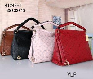 Высокое качество старинные тиснение цветы сумка M40249 женщины натуральная кожа вычурные покупки сумка тотализатор дизайнер кошелек плеча сумки