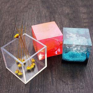 1PC A + Qualität 6 Größe 20/25/35/40 / 50mm Mold transparenten Silikon-Platz Mold Epoxyharzformen für DIY Schmucksachen, die Werkzeuge