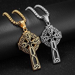 Pingente de Cruz Moda FntYcm ouro pingentes colar inoxidável Homens Steel Charm Arrefecer colares para homens Saints Row Jóias
