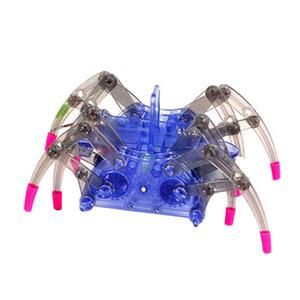 Yüksek Kalite DIY Akıllı Elektrikli Örümcek Robot Oyuncak Eğitim DIY Takımı Sıcak Satış Montaj İnşaat Bulmaca Oyuncak birleştirin