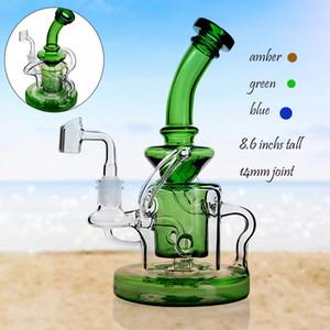 11 pollici alto grande bong di vetro spesso acqua Bong Tornado gravità Bong tubi dell'acqua inebrianti Dab Rigs con 14mm narghilè narghilè shisha