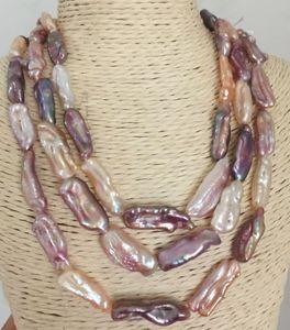 magnifique collier de perles multicolore baroque de 14-17 mm de la mer du Sud, 38 pouces