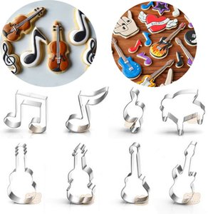 music notes Piano guitar violin metal cookie cutter party Biscuit mold die cut fondant cake decorating Pastry decor bread mould