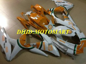 Injection mold Fairing kit for SUZUKI GSXR600 750 K8 08 09 GSXR600 GSXR750 2008 2009 Cool white orange Fairings set SA22