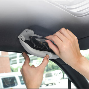 Автомобиль Стайлинг автомобиля очки Box хранения Держатель солнцезащитных очков чехол для Porsche Macan Cayenne Panamera автоаксессуаров