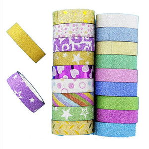 110 Pcs Glitter Washi Album Notebook Tape Stationery Scrapbooking Decorative Adhesive Tapes DIY Masking Tape School Supplies 2016