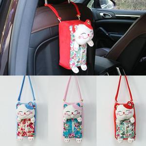 richesse multifonctionnelles yposuction chat suspendu panier boîte voiture dessin animé à double usage sac serviette en papier boîte de serviette en papier voiture pendaison ornements