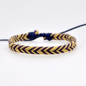 1pcs hecha a mano de la amistad Pulsera de algodón Boho ajustable joyas joyería afortunada pareja